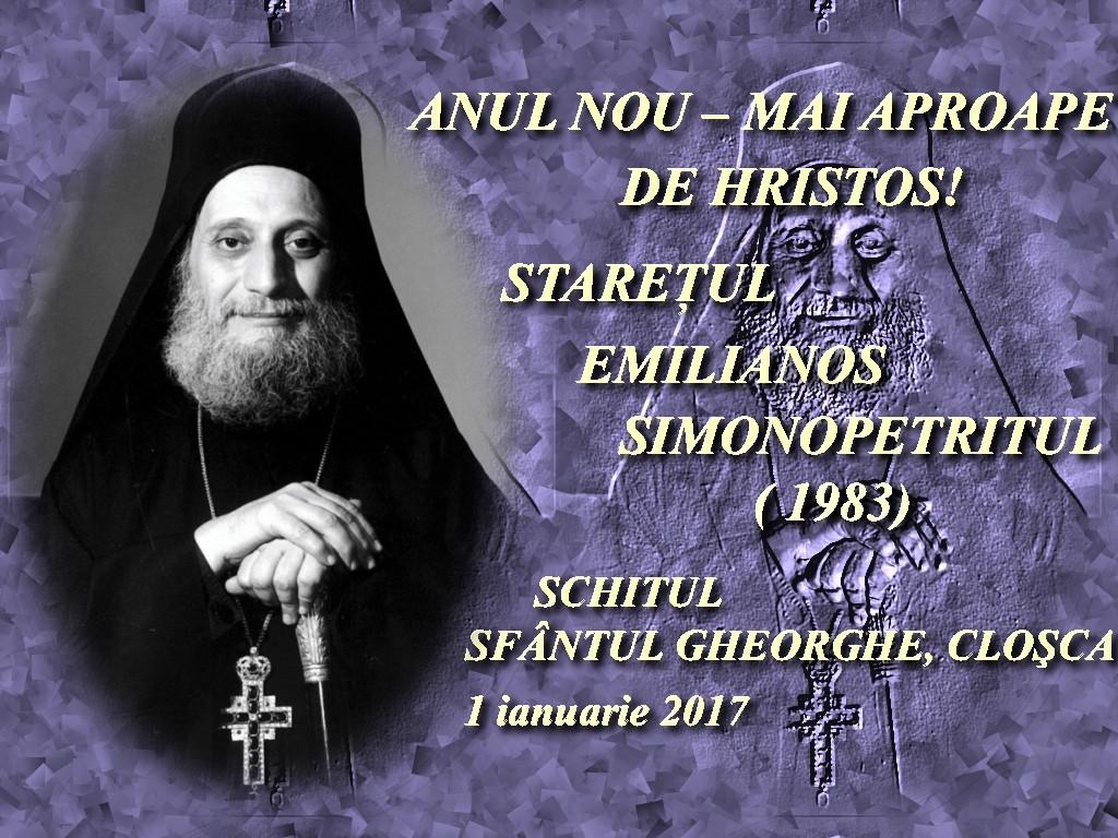 1 ian 2017, Anul Nou - mai aproape de HS, Staretul Emilianos Simonopetritul, 1983