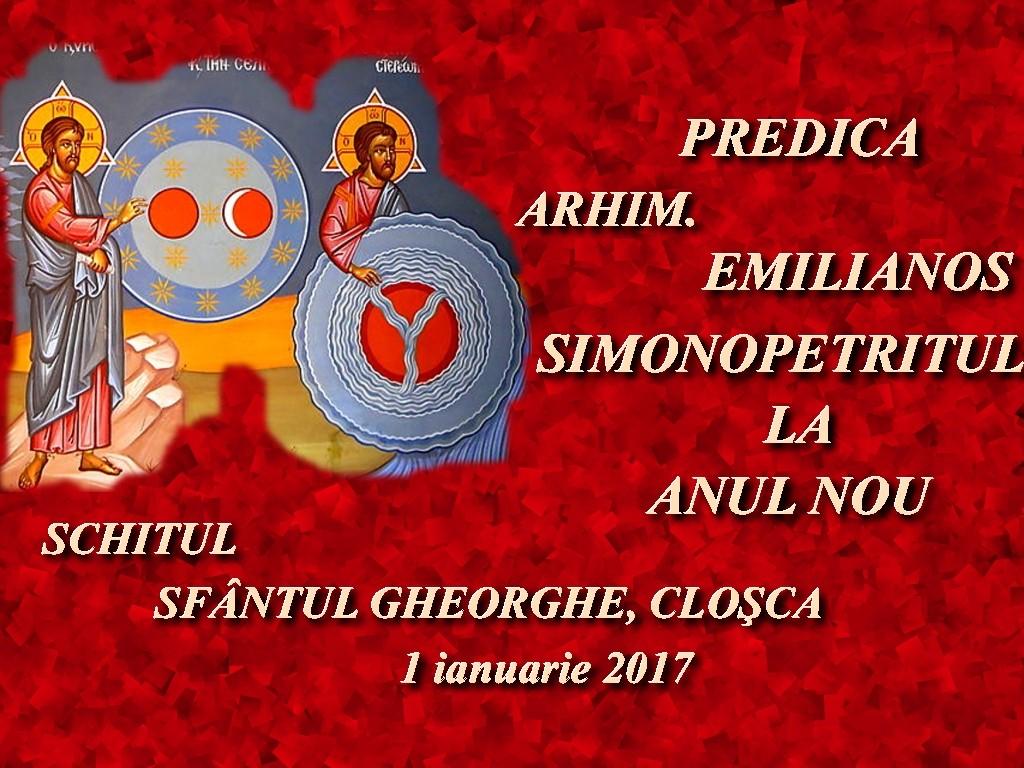 1 ian 2017, Pred Arhim Emilianos Simonopetritul la Anul Nou, lectura audio1