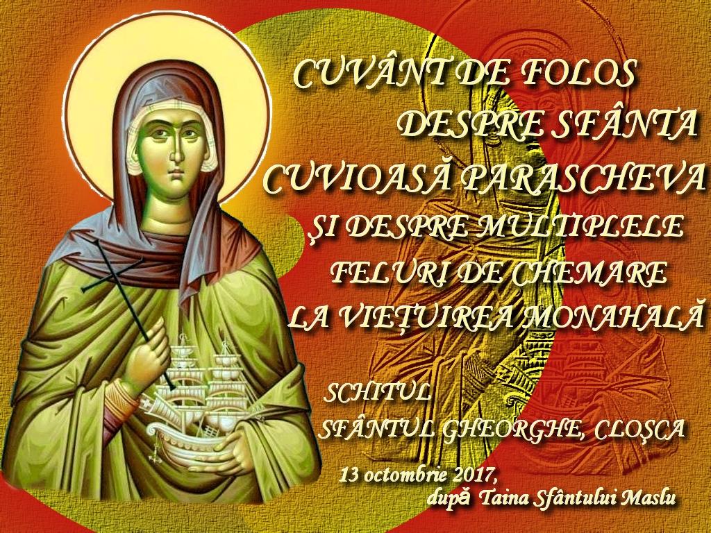 13 oct 2017, Cuvant de folos dupa Sf Maslu