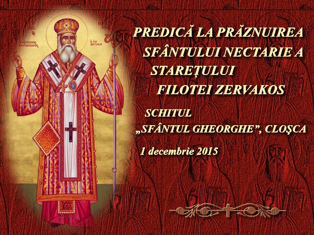 1 dec 2015_Predica la Sf Nectarie_Staretul Filotei Zervakos