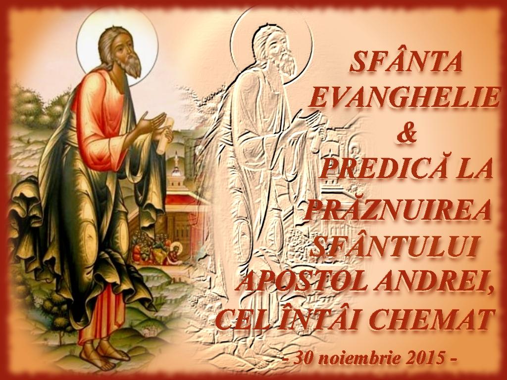 Sf Ev & Predica la Sf Andrei 30 nov 2015