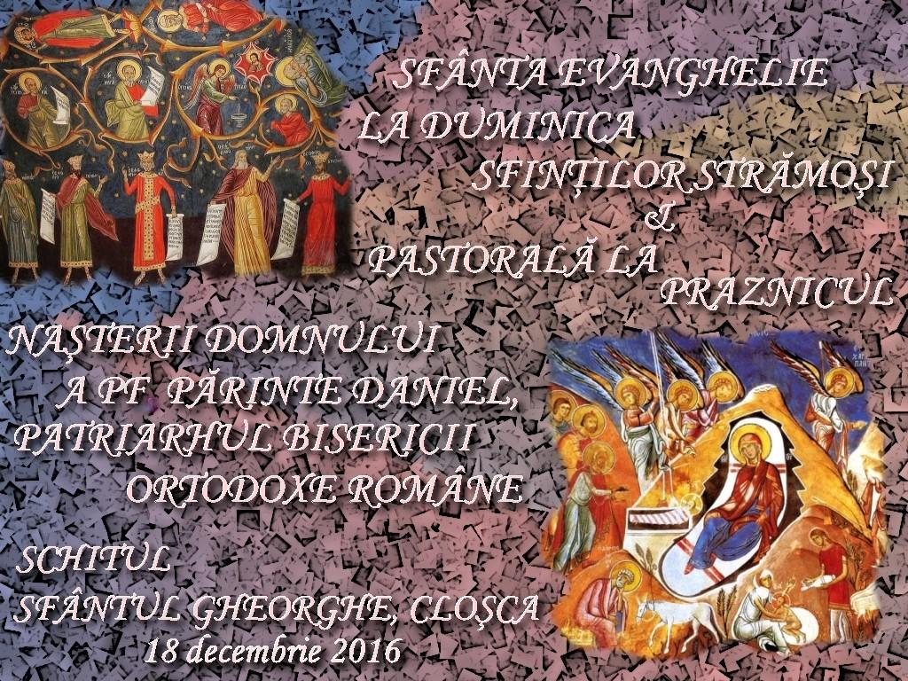 18 dec 2016, Ev la D Sf Stramosi si Pastorala Patriarhului1