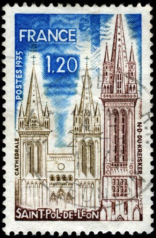 Stamp-Cathédrale-Saint-Pol-de-Leon