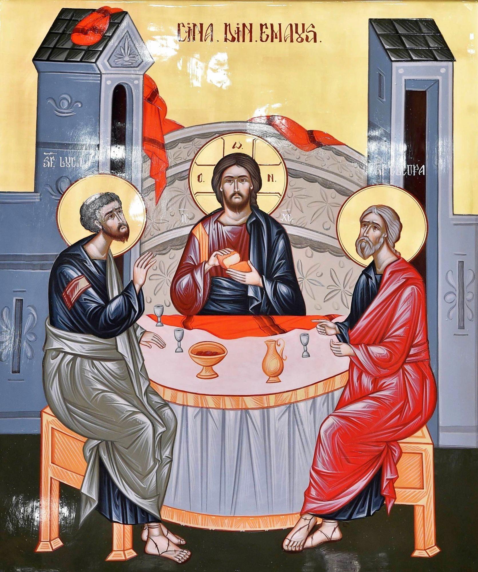 """CINA DIN EMAUS – icoana reprezentativă pentru Anul omagial al satului românesc: """"pentru că într-un sat, Emaus, la 12 km depărtare de Ierusalim (60 stadii) Mântuitorul Iisus Hristos s-a descoperit ucenicilor Luca și Cleopa că este El, Cel răstignit și înviat din morți"""""""