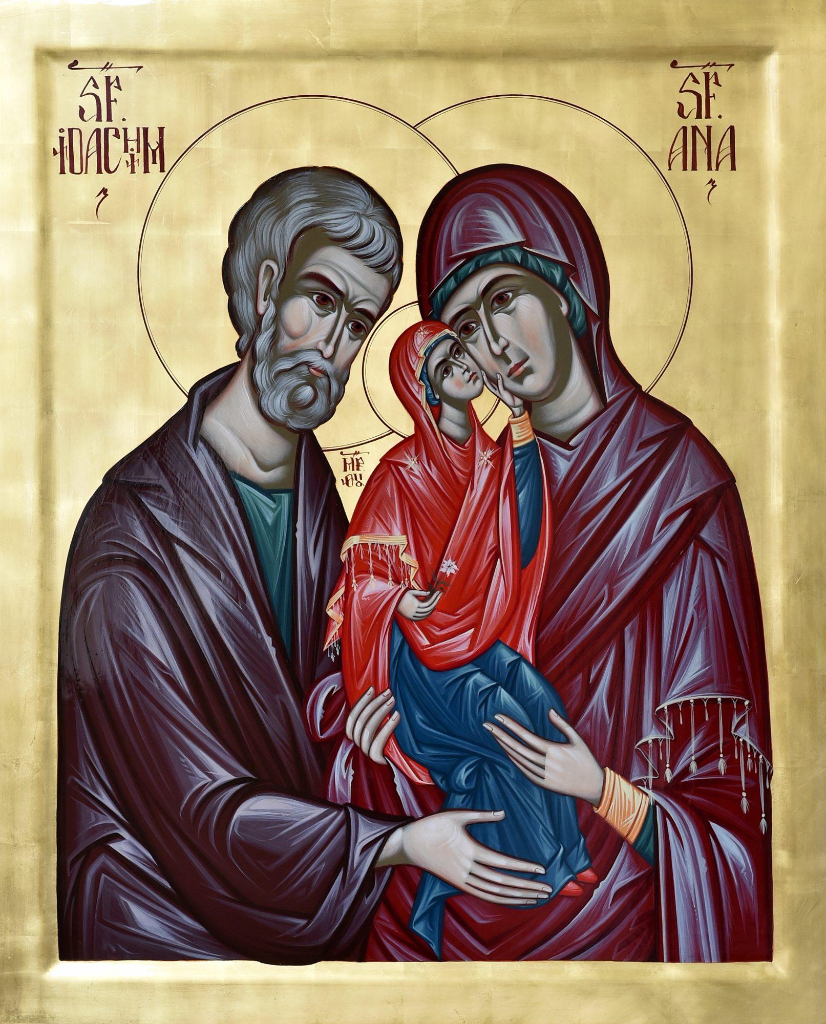 Icoana emblematică a Anului omagial 2020 este icoana Sfinţilor Părinţi Ioachim şi Ana şi a fiicei lor Fecioara Maria.